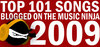The Music Ninja's TOP 101 Songs Blogged in 2009