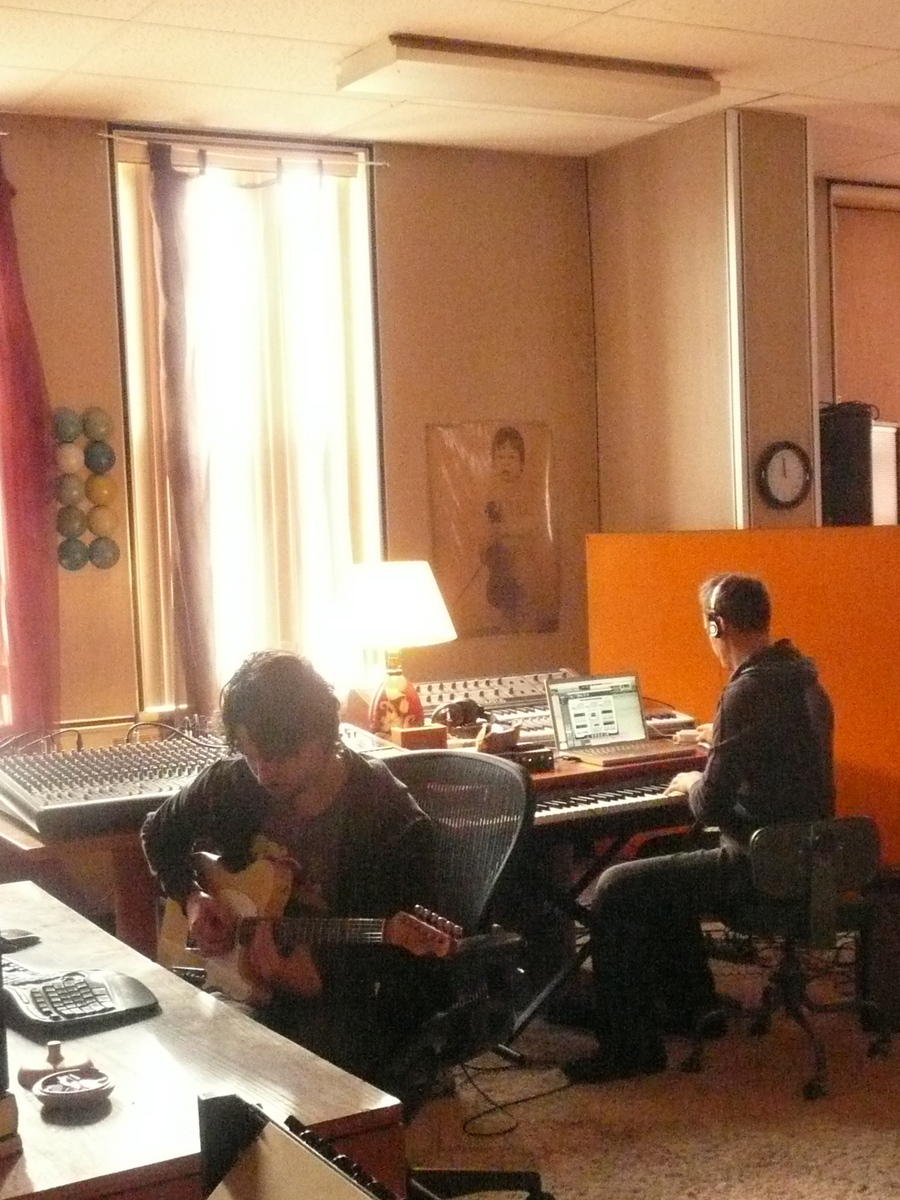 JZ and FG writing songs