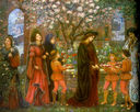 750px the enchanted garden of messer ansaldo by marie spartali stillman 1889