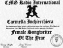 My Female Songwriter of the Year Award..