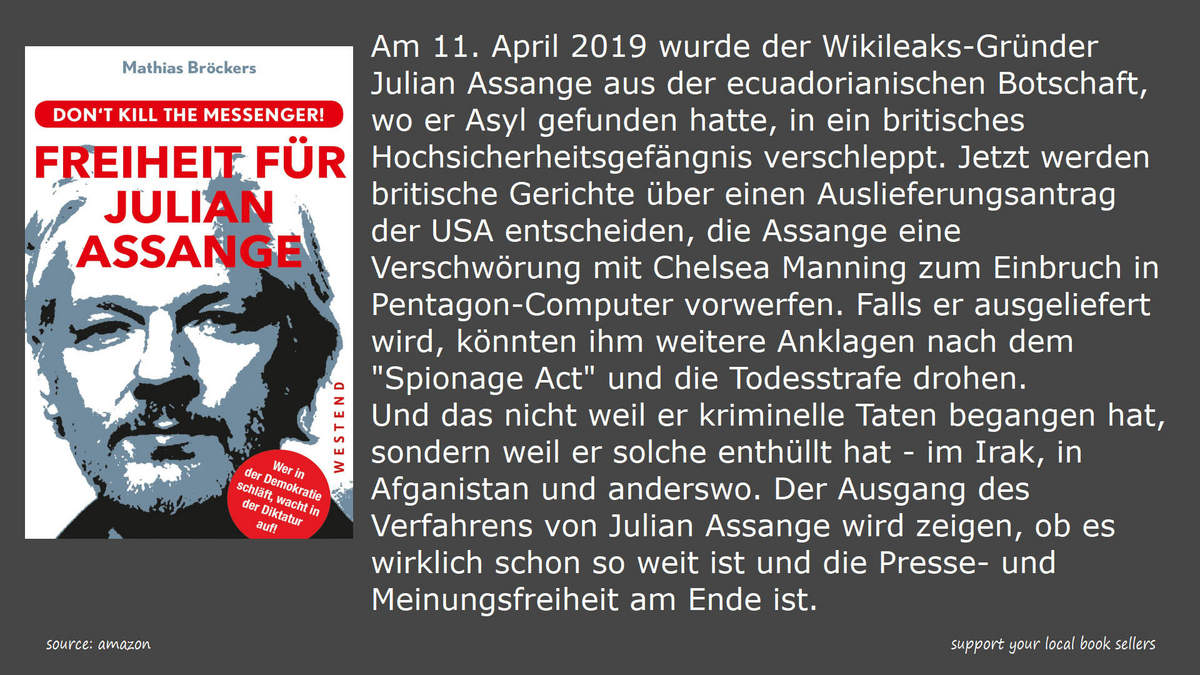 book mathias broeckers freiheit fuer julian assange