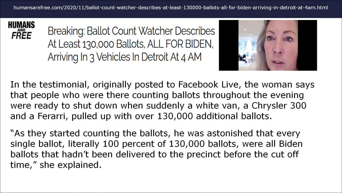 humans are free ballot count watcher