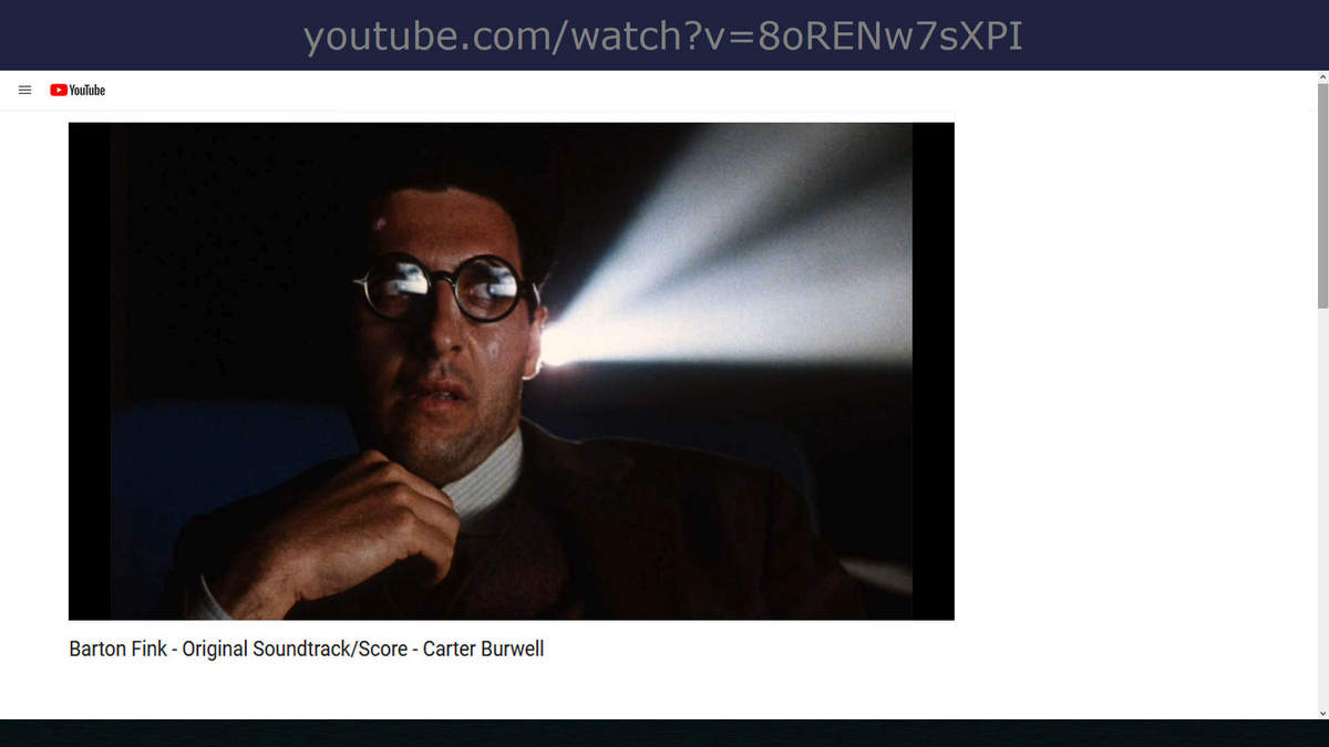music carter burwell barton fink soundtrack