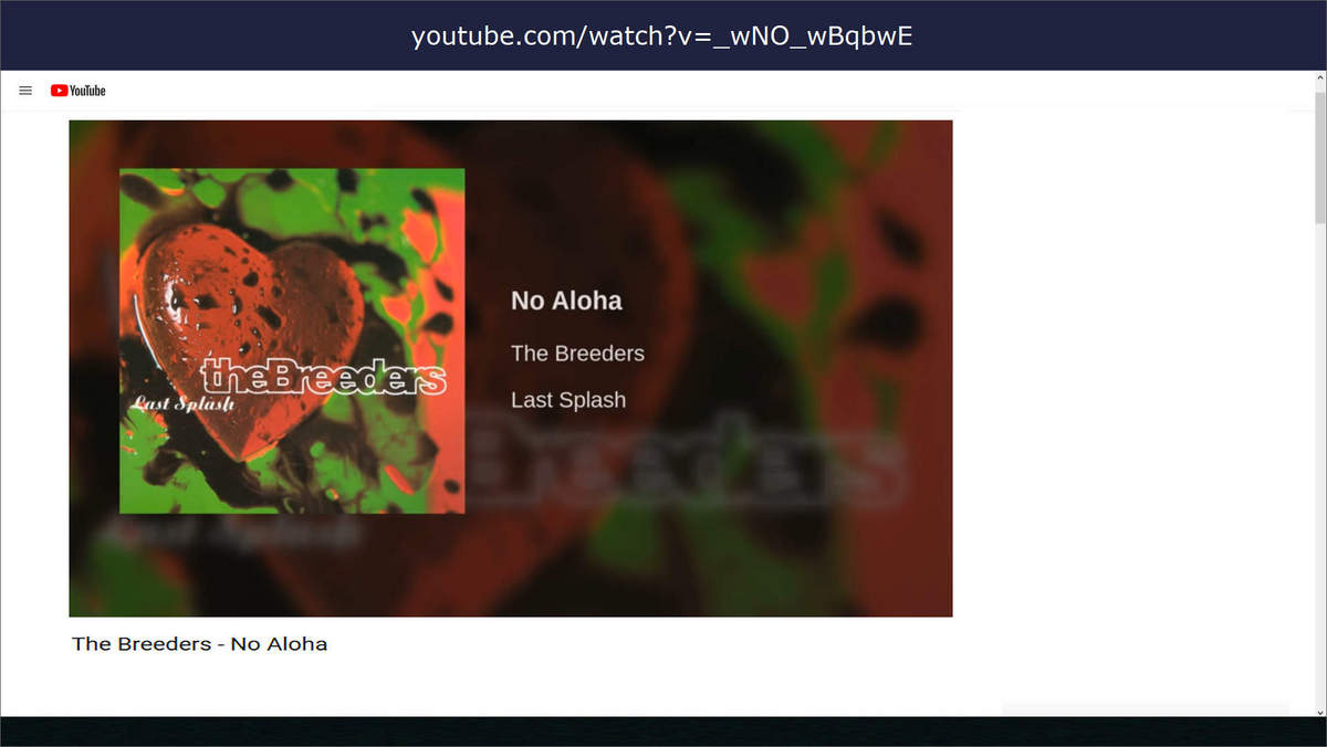 music the breeders no aloha