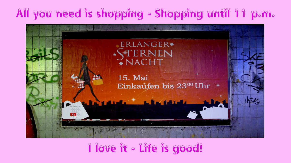 shopping until eleven