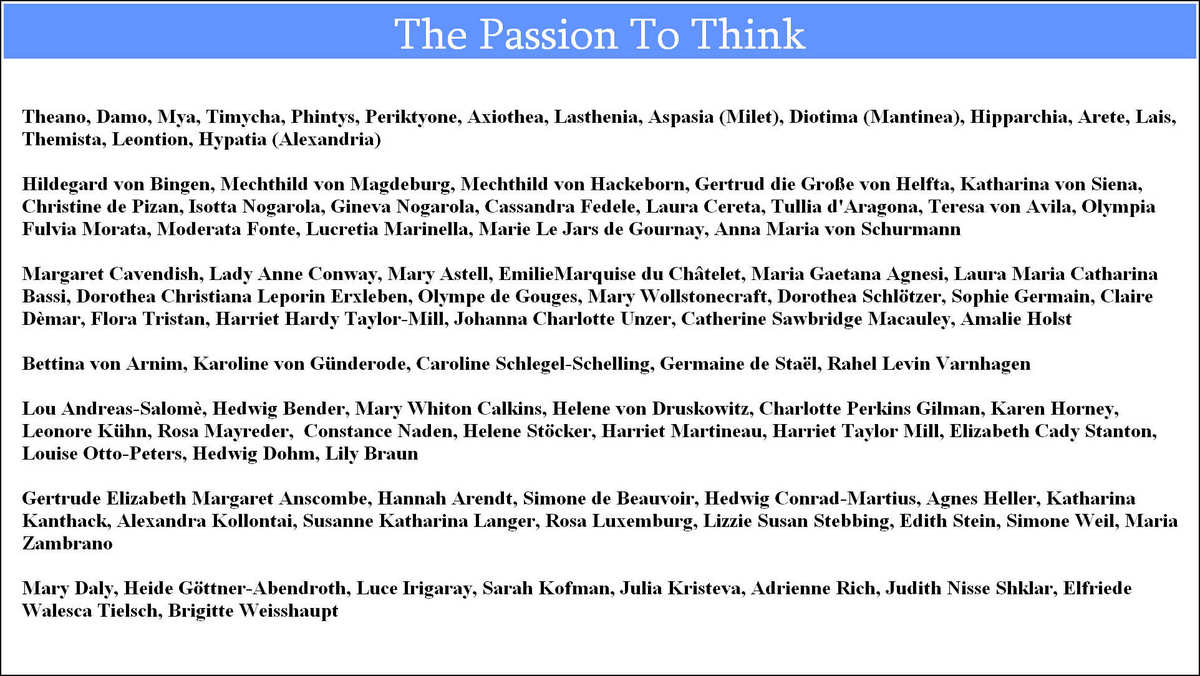 the passion to think